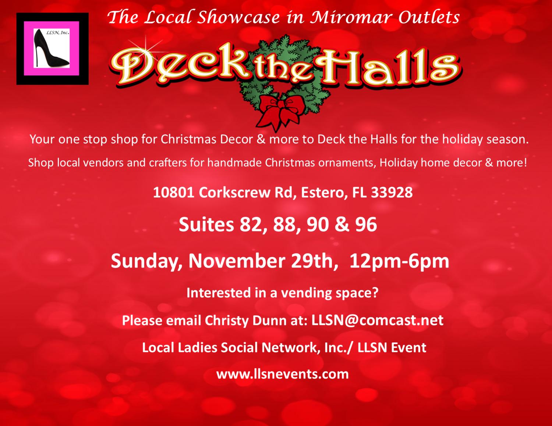 Deck The Halls- Sunday, Nov 29th, 12pm-6pm.