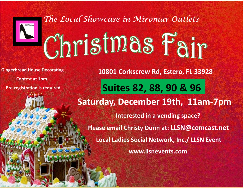 Christmas Fair, Saturday, Dec. 19th, 11am-7pm.