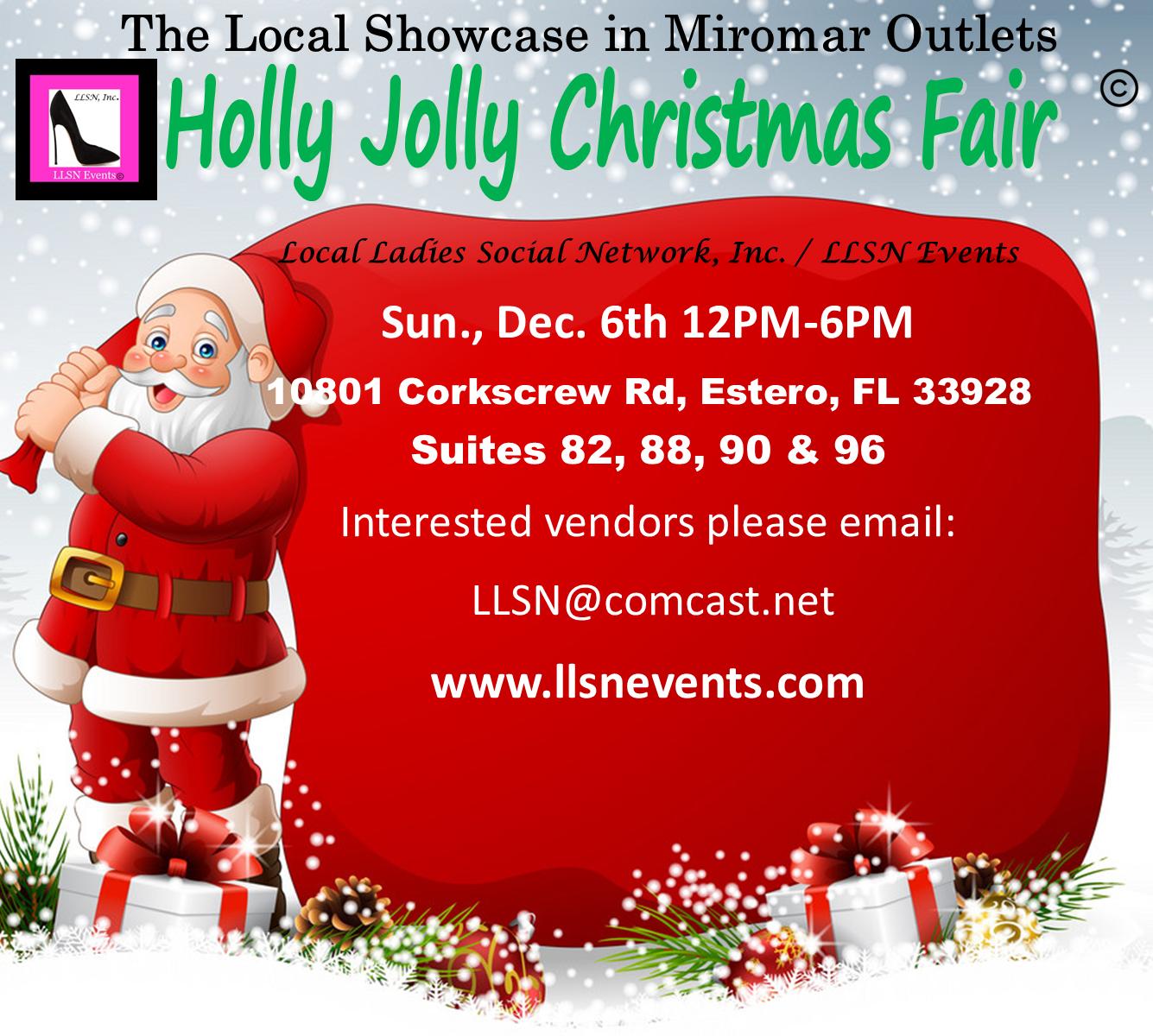 Holly Jolly Christmas Fair Sun. Dec.  6th 12pm-6pm