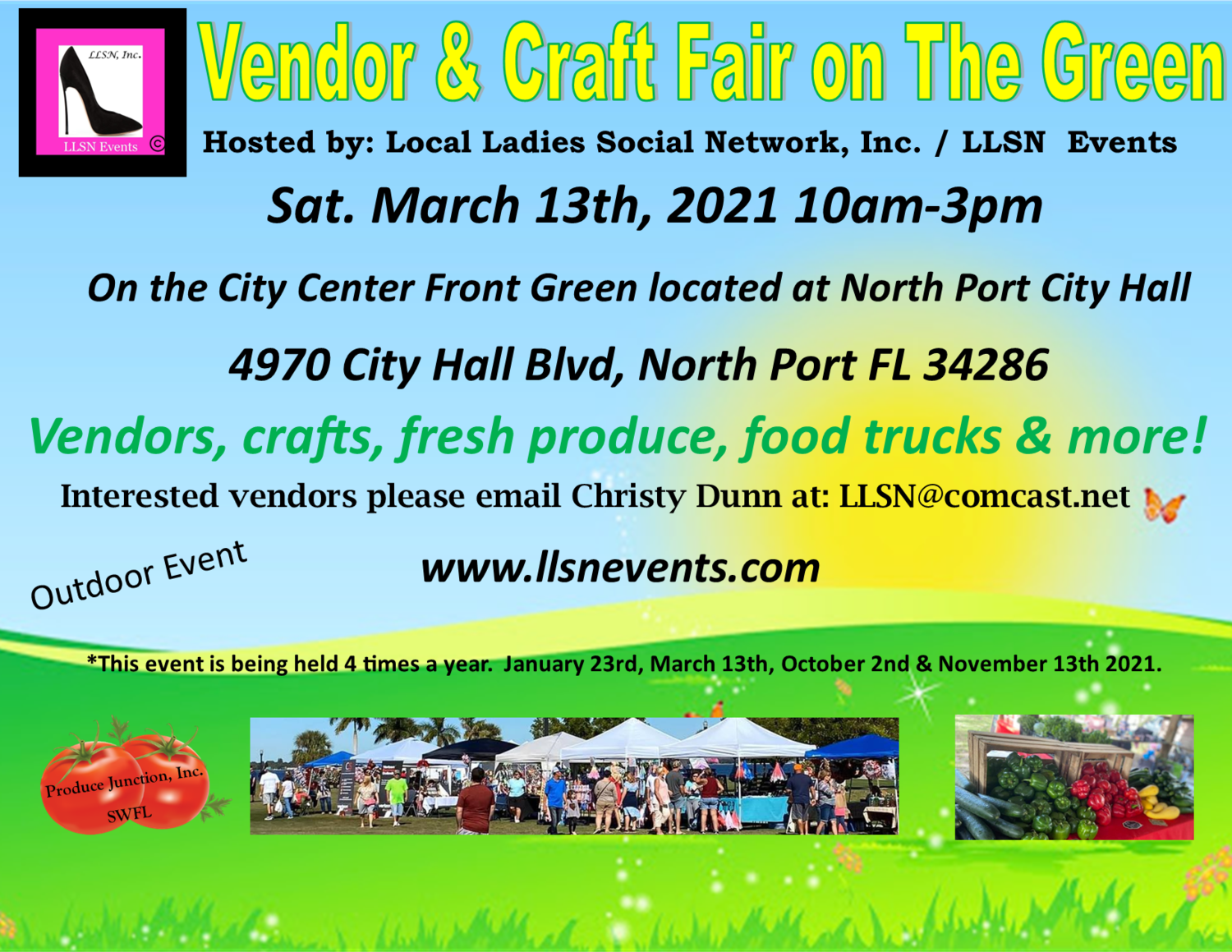 Vendor & Craft Fair on The Green March 13th- North Port