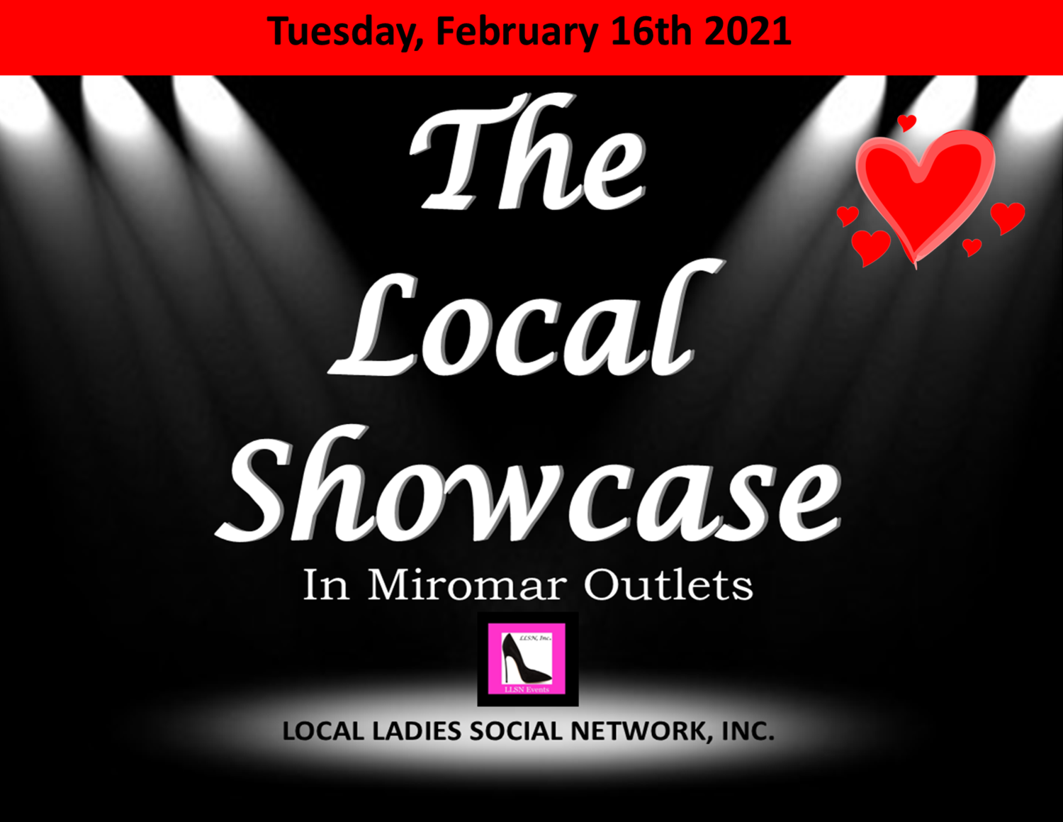 Tuesday, February 16th 11am-7pm.