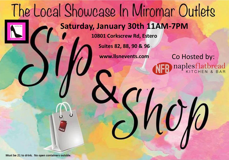 Sip & Shop -Saturday, January 30th 11am-7pm