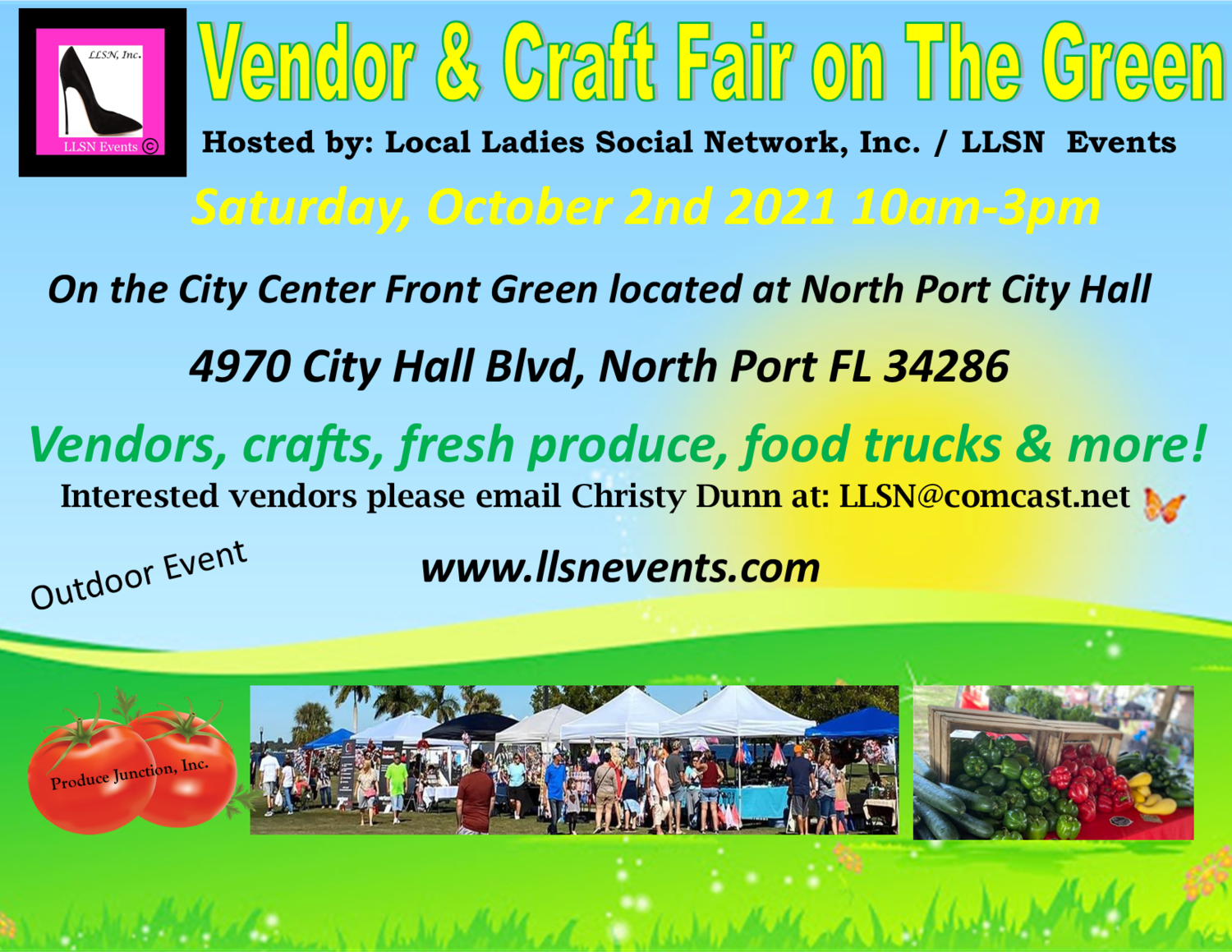 Vendor & Craft Fair on The Green October 2nd- North Port