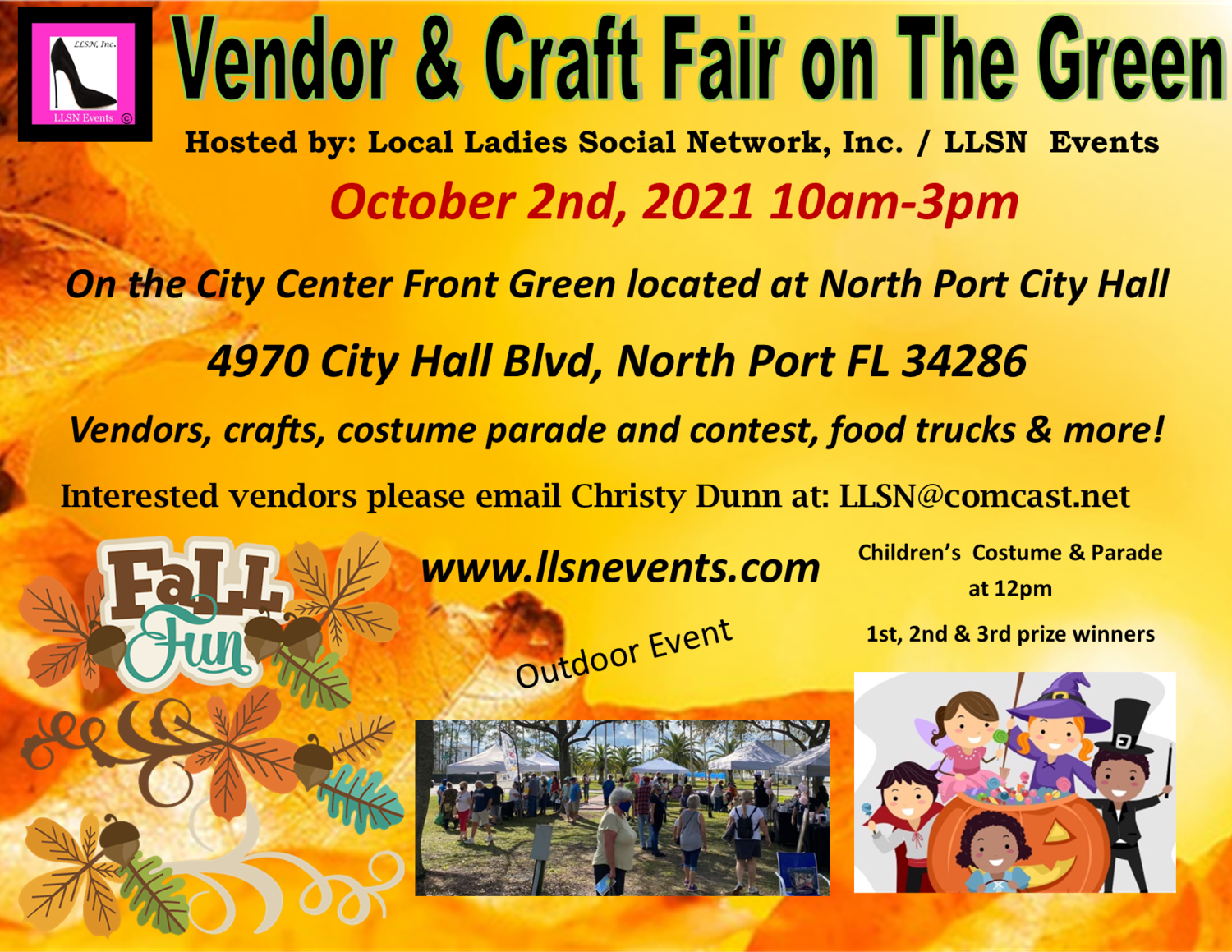 Vendor & Craft Fair on The Green October 2nd- North Port Fall Fest