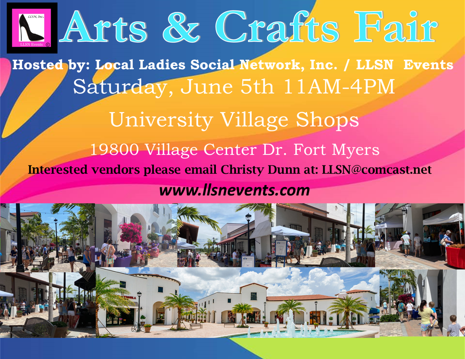 Arts & Crafts Fair- Fort Myers, Saturday June 5th  11AM-4PM