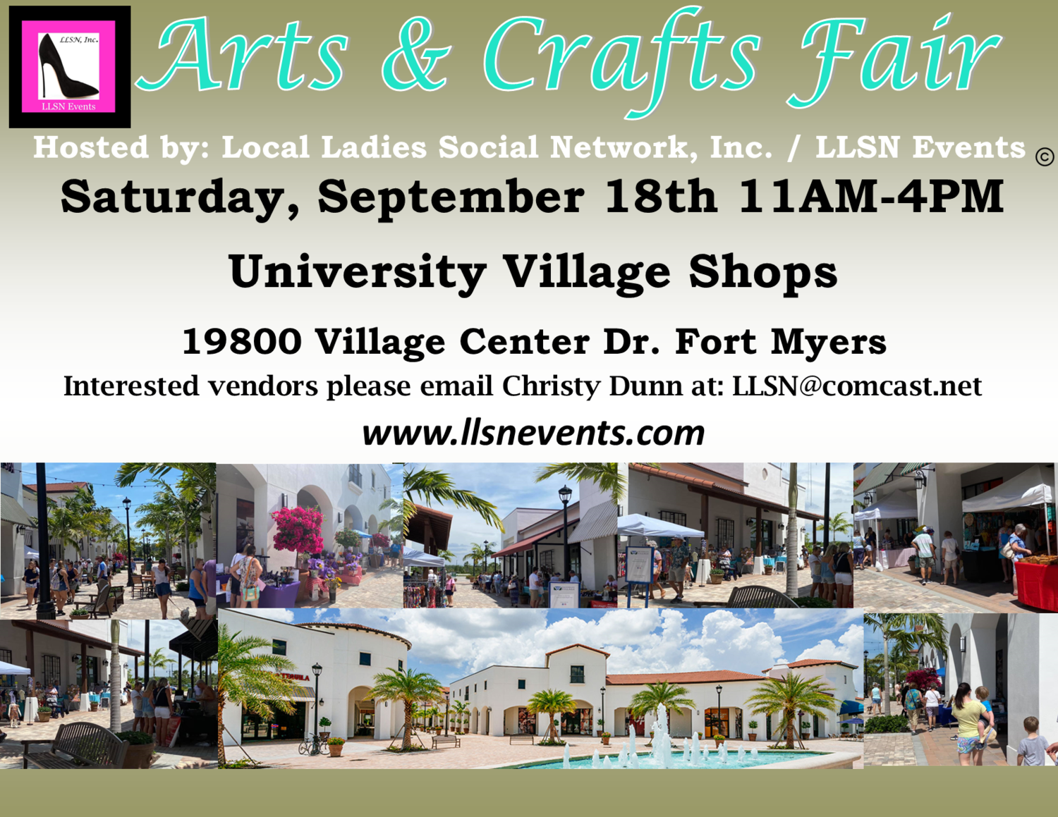 Arts & Crafts Fair- Fort Myers, Saturday September 18th 11AM-4PM