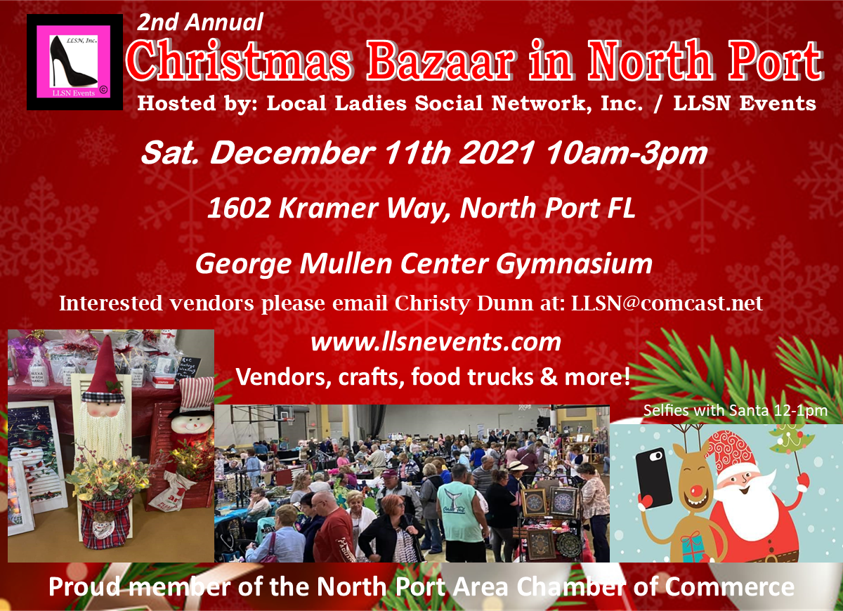 Sat. Dec 11th 2021-2nd Annual Christmas Bazaar in North Port