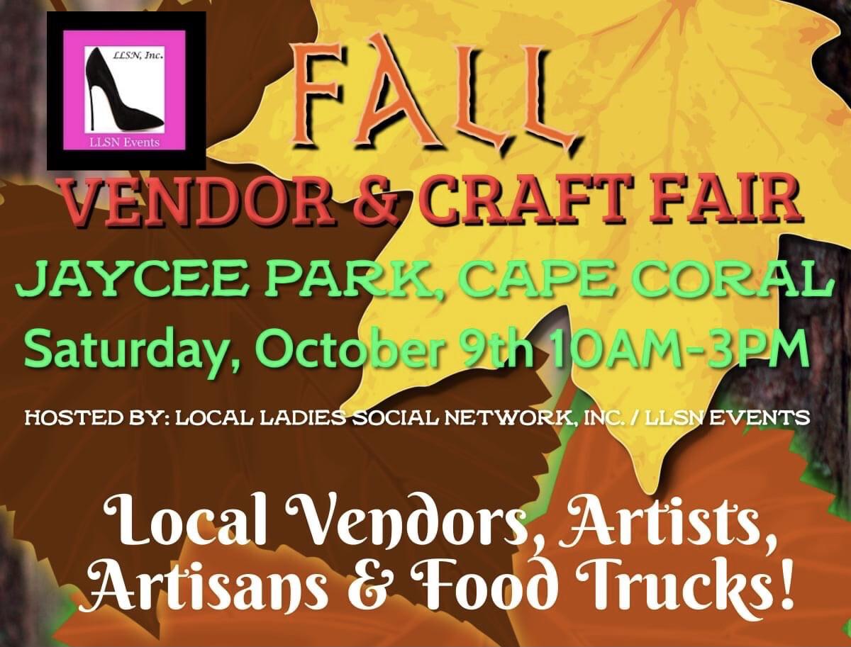 Vendor & Craft Fair at Jaycee Park- Oct 9th, Cape Coral