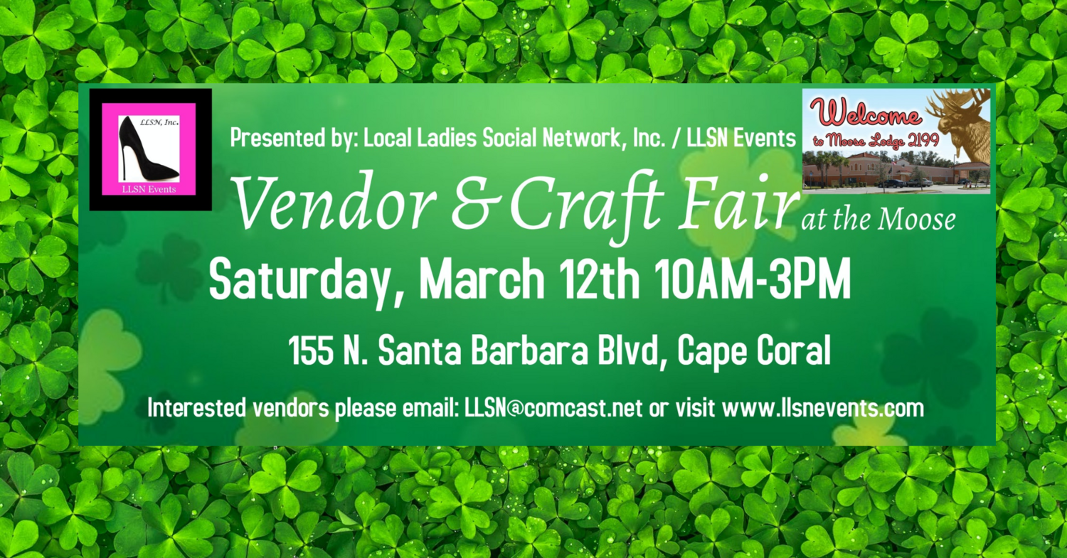 OUTDOOR SPACE- Vendor & Craft Fair at the Moose, March 12th