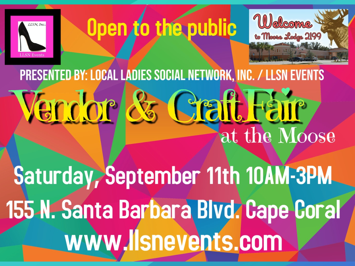 OUTDOOR SPACE- Vendor & Craft Fair at the Moose, September 11th