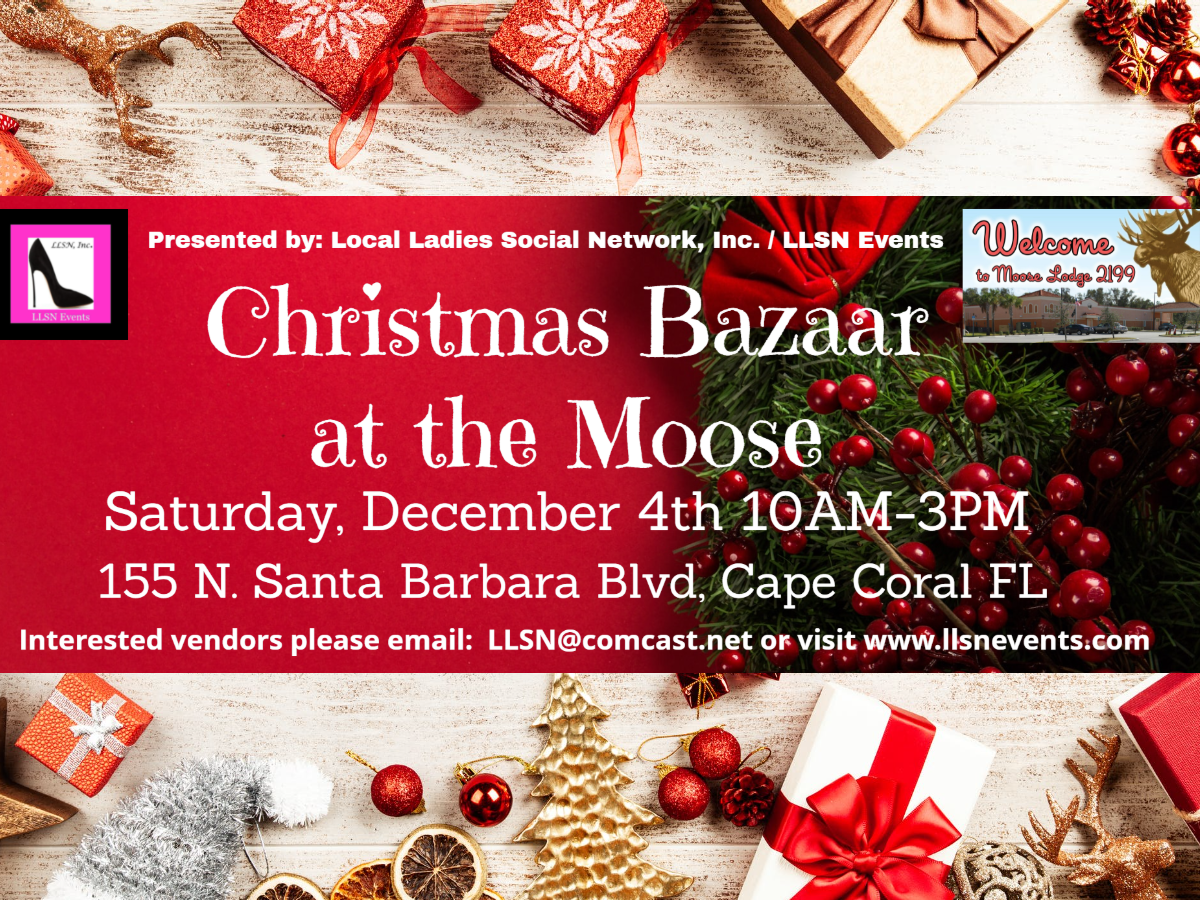 OUTDOOR SPACE- Christmas Bazaar at the Moose, December 4th