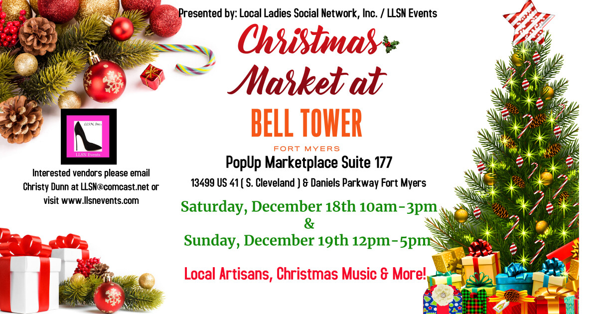 Christmas Artisan Market at Bell Tower - Saturday December 18th