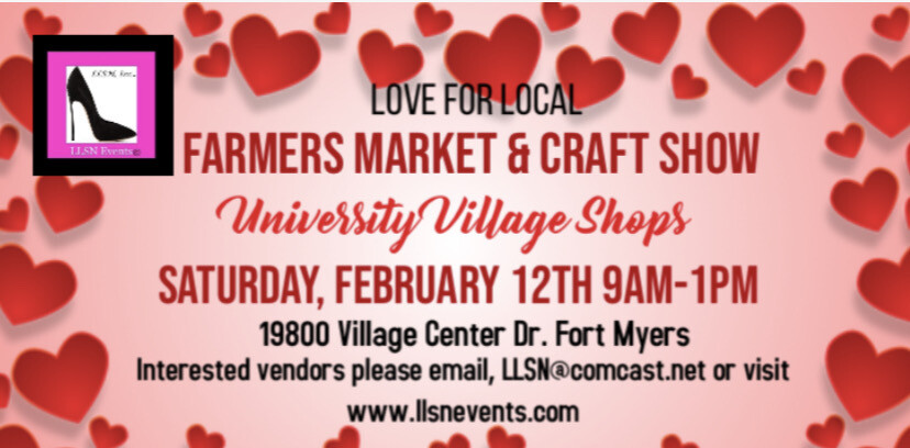 Love for Local Farmers Market & Craft Show- Fort Myers- February 12th
