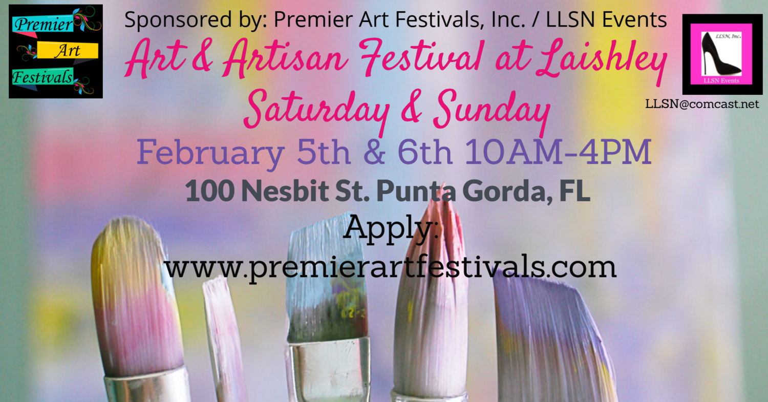 (SATURDAY ONLY)  2 DAY Art & Artisan Festival at Laishley Park. MUST APPLY AND RECEIVE ACCEPTANCE BEFORE PURCHASING. Please Email LLSN@comcast.net