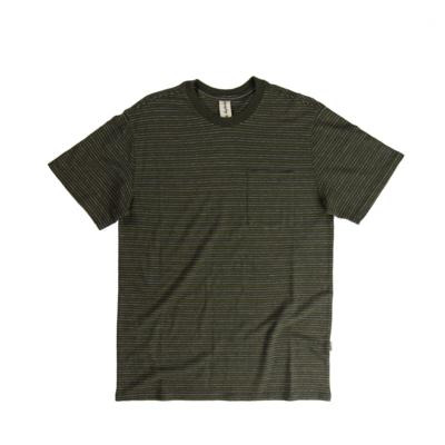 Fayettechill Men's Nelson Pocket Tee- Black Ink Stripe