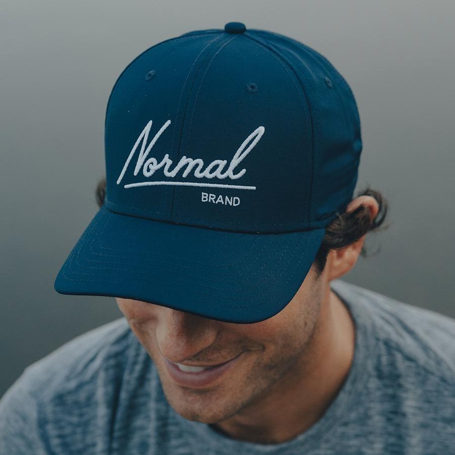 The Normal Brand Script Hat- Navy