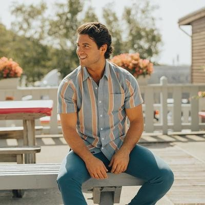The Normal Brand Men's Oakland Twill Button Up- River