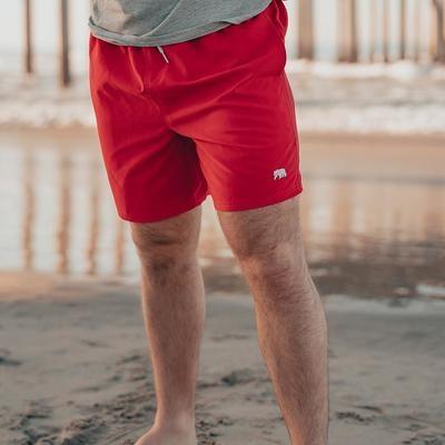 The Normal Brand Men's Normal Swim Trunks- Red