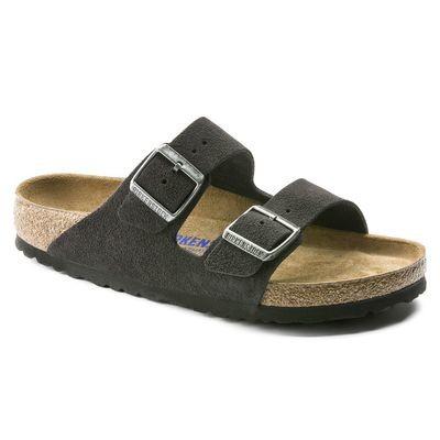 Birkenstock Arizona Soft Footbed- Velvet Grey (Regular Width)