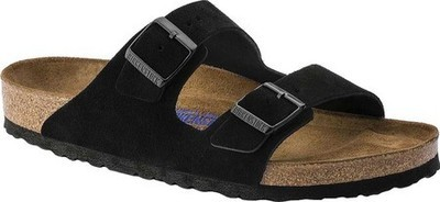 Birkenstock Arizona Soft Footbed- Black (Regular Width)