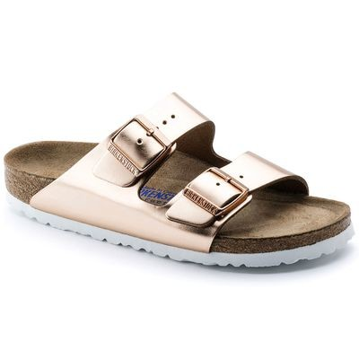 Birkenstock Arizona Soft Footbed- Metallic Copper (Regular Width)