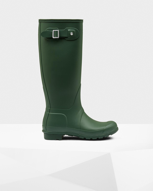 Hunter Women's Original Tall Matte Boot- Hunter Green