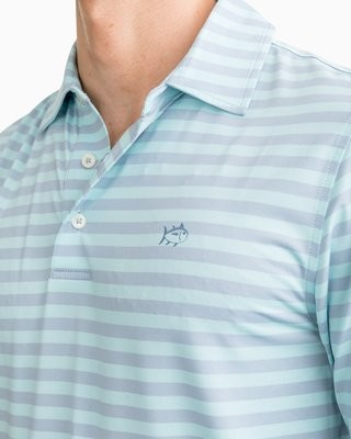 Southern Tide Men's Sonar Striped Performance Polo