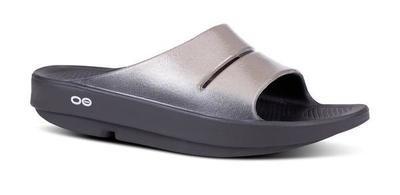 Oofos Women's OOahh Luxe Slide Sandal- Latte