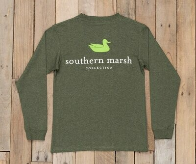 Southern Marsh Kid's Long Sleeve Authentic Tee