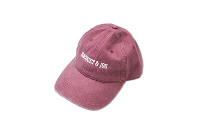 Racquet and Jog Statement Hat -  Maroon
