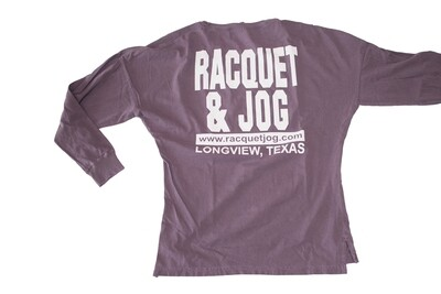 Racquet & Jog Old School Core Oversized Fit Long Sleeve Tee