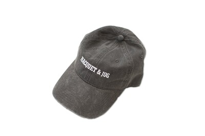 Racquet and Jog Statement Hat - Charcoal