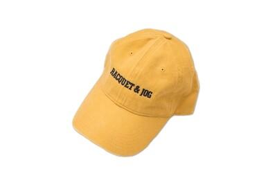 Racquet and Jog Statement Hat -  Mustard