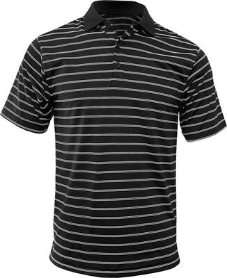 RJX Activ Men's Short Sleeve Wide Stripe Polo - Black