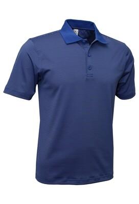 RJX Activ Men's Short Sleeve Mini Stripe Polo - Royal Blue