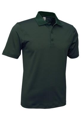 RJX Activ Men's Short Sleeve Mini Stripe Polo - Dark Green