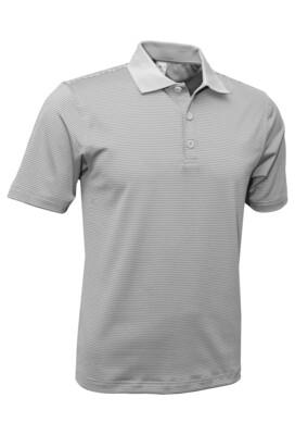 RJX Activ Men's Short Sleeve Mini Stripe Polo - Silver