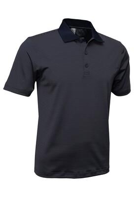 RJX Activ Men's Short Sleeve Mini Stripe Polo - Navy
