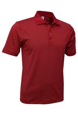 RJX Activ Men's Short Sleeve Mini Stripe Polo - Red