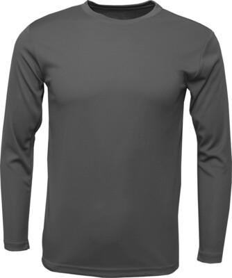 RJX Activ Men's Long Sleeve Core Tee - Charcoal