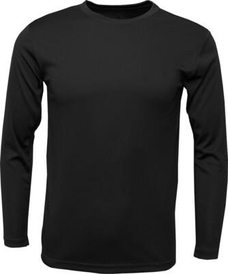 RJX Activ Men's Long Sleeve Core Tee - Black