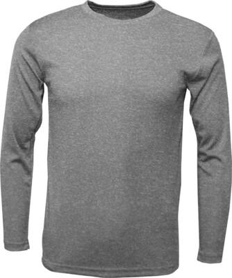 RJX Activ Men's Long Sleeve Core Tee- Heather Grey