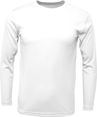 RJX Activ Men's Long Sleeve Core Tee - White