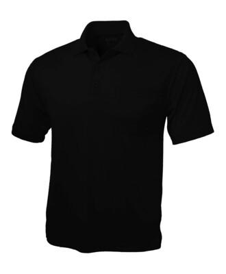 RJX Activ Men's Short Sleeve Polo - Black