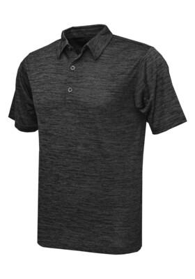 RJX Activ Men's Short Sleeve Vintage Polo - Black