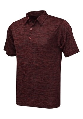 RJX Activ Men's Short Sleeve Vintage Polo - Maroon