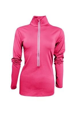 RJX Activ Women's Core Comfort Half Zip - Neon Pink