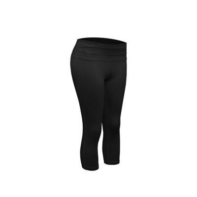 RJX Activ Women's Core Capri - Black