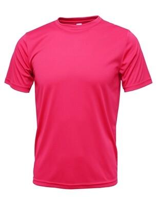 RJX Activ Men's Short Sleeve Core Tee - Neon Pink