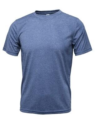 RJX Activ Men's Short Sleeve Core Tee - Heather Blue